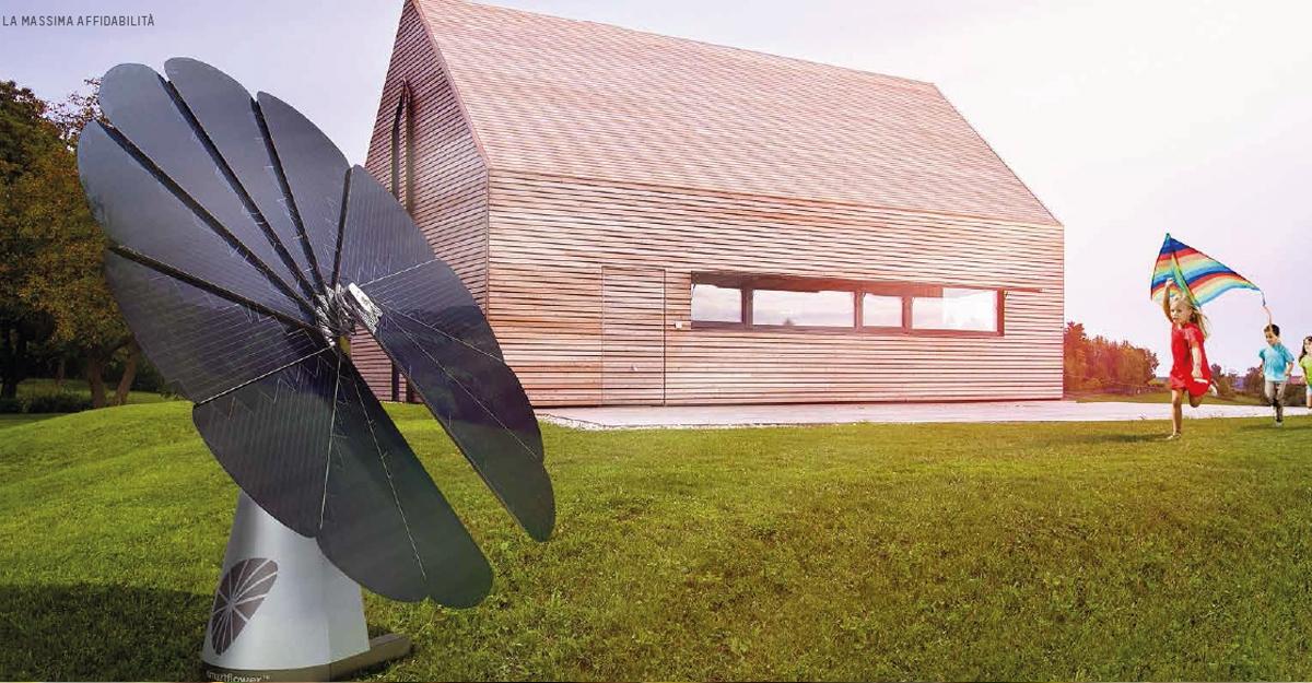 Sistema Smartflower™ POP, il fotovoltaico di design